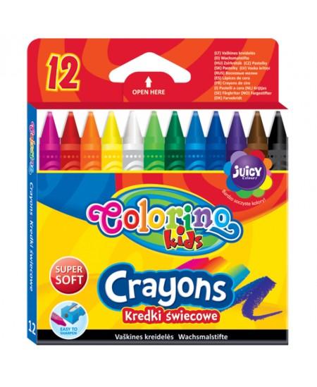 Vaškinės kreidelės COLORINO, 12 spalvų