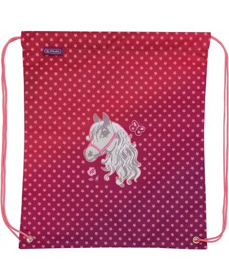 Sportinis krepšys HERLITZ su poniu, mergaitėms
