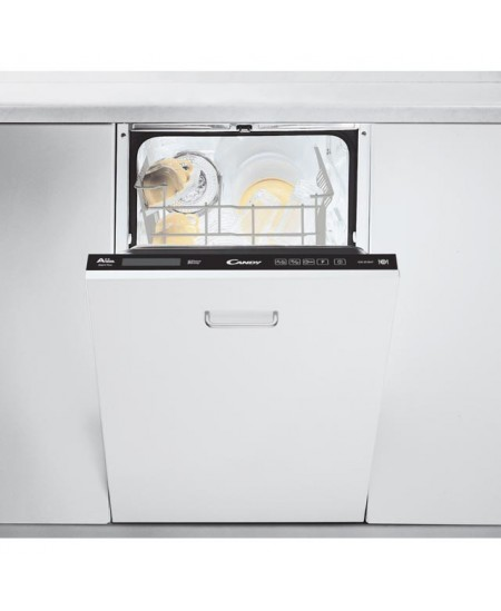 Candy Dishwasher CDI 2T1047 Built in, Width 45 cm, Number of place settings 10, Number of programs 7, A++, AquaStop function, Wh