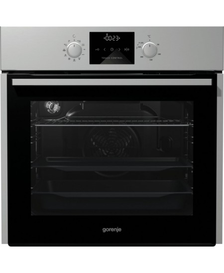 Gorenje Oven BOP637E11X Built-in, 63 L, Stainless steel, Pyrolysis, Mechanical, Height 60 cm, Width 60 cm, Integrated timer