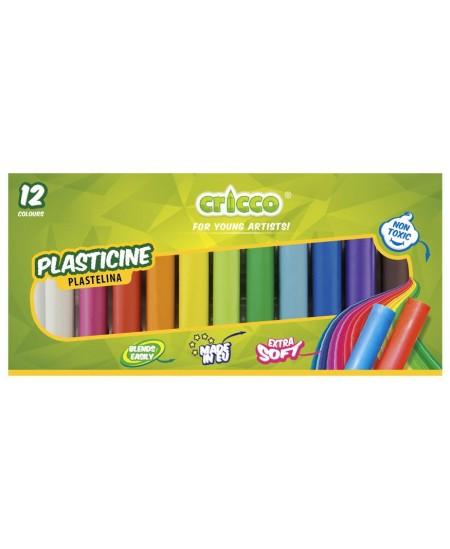 Plastilinas CRICCO, 12 spalvų
