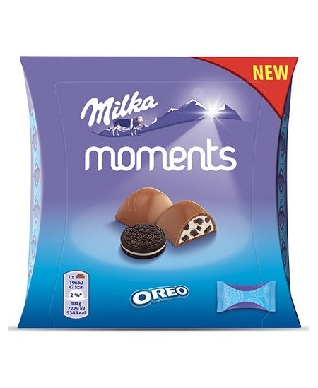 Saldainių dėžutė MILKA Moments OREO, 92g