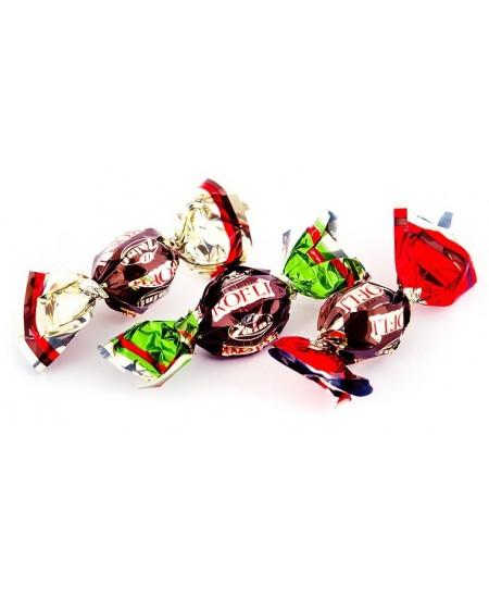 Saldainiai KOFLI - kavos pupelės aplietos šokoladu, 1 kg