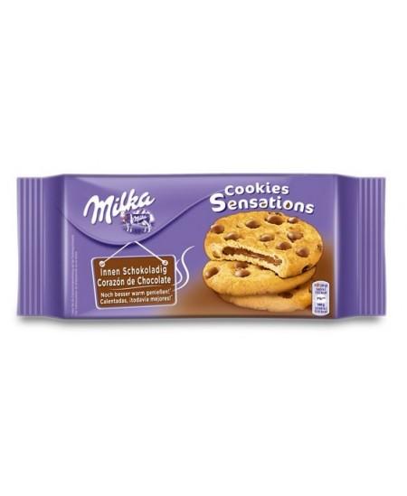 Sausainiai MILKA, su šokolado įdaru, 156 g