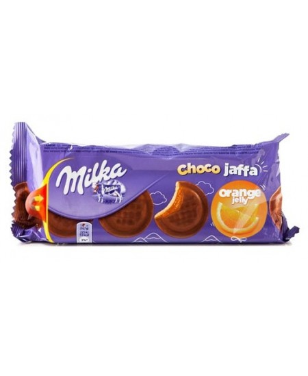 Sausainiai MILKA Jaffa, su apelsinų skonio įdaru, 147 g