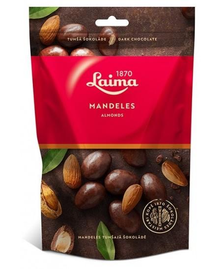 Migdolai juodame šokolade LAIMA, 140 g