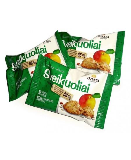 Sausainiai DZŪKIJA Sveikuoliai su obuolių gabaliukais, 25 g