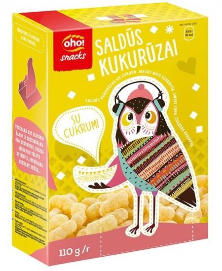 Saldūs kukurūzai OHO su cukrumi, dėžutėje, 110 g