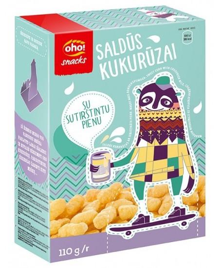 Saldūs kukurūzai OHO su sutirštintu pienu, dėžutėje, 110 g