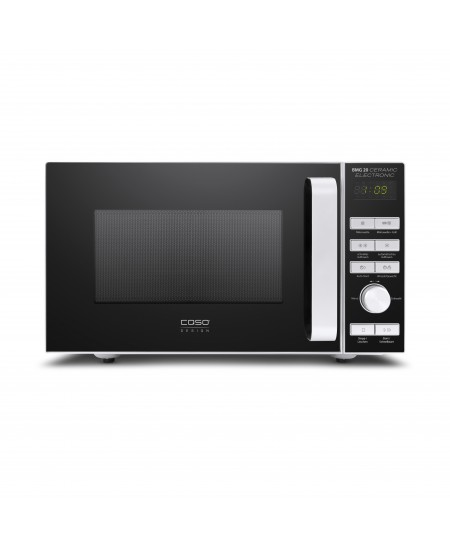Caso BMG 20 Ceramic 03317 Microwave oven with grill, Grill, Intuitive semi-digital control, 800 W, Black/Silver, Defrost functio