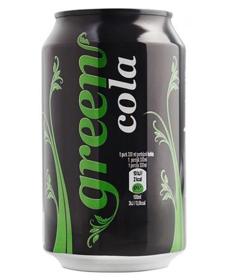 Gazuotas gaivusis gėrimas Green Cola 0.33l (skardinė) D
