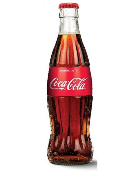 Gaivinantis gėrimas COCA COLA, 0,25 l stiklinis butelis D