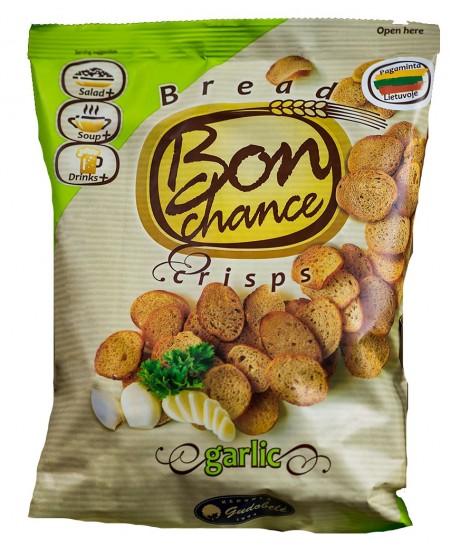 Duonos traškučiai BON CHANCE su česnakais, 60 g
