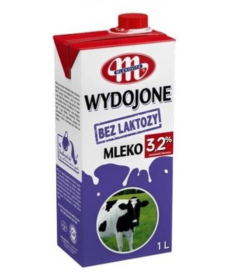 Pienas MLEKOVITA, 3.2% riebumo, be laktozės, 1L