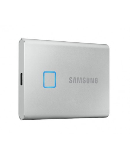 Samsung Portable SSD T7 1000 GB, USB 3.2, Silver, with fingerprint and password security