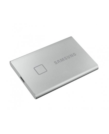 Samsung Portable SSD T7 2000 GB, USB 3.2, Silver, with fingerprint and password security
