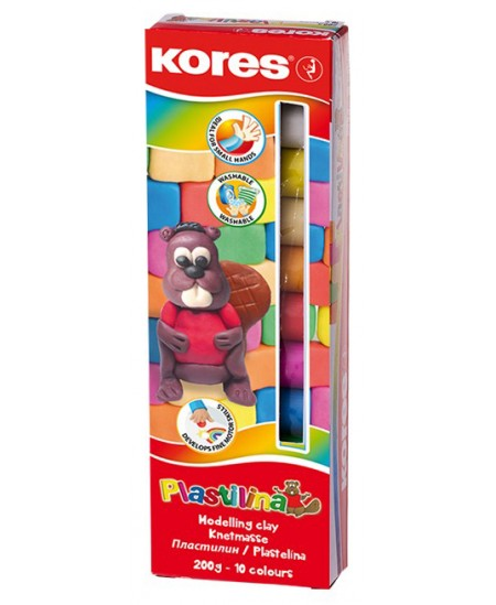 Plastilinas KORES, 10 spalvų