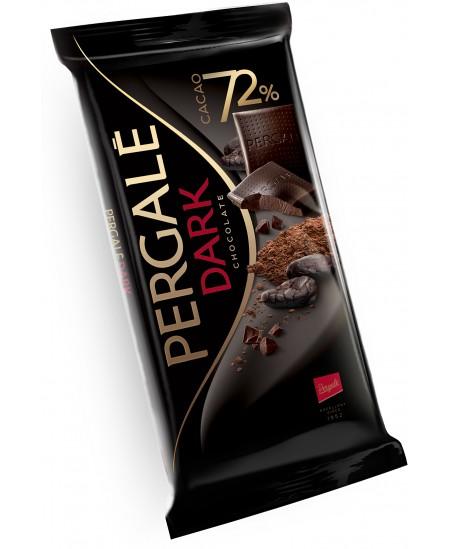 Juodasis šokoladas PERGALĖ, 72%, 100 g