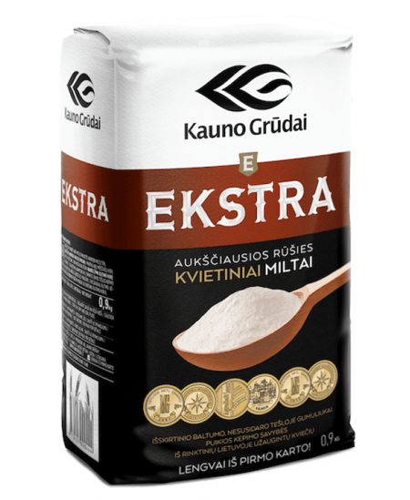 Kvietiniai EKSTRA miltai 405D, 1,75 kg