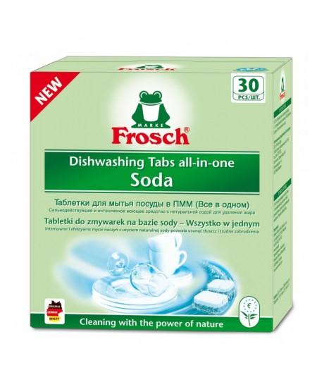 Indaplovių tabletės su soda FROSCH, 30 vnt