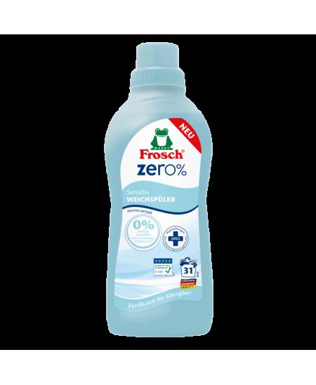 Odos nedirginantis skalbinių minkštiklis FROSCH ZERO%, 750 ml