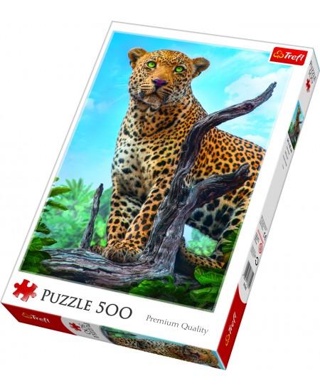 """Dėlionė TREFL """"Leopardas"""", 500 dalių"""