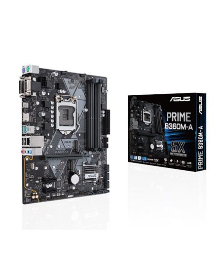 Asus PRIME B360M-A Processor family Intel, Processor socket LGA1151, DDR4 DIMM, Memory slots 4, Chipset Intel B, Micro ATX