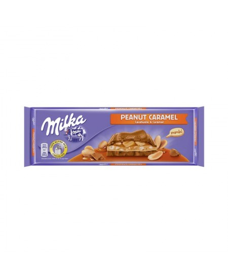 Šokoladas MILKA PEANUT & CARAMEL, 276 g