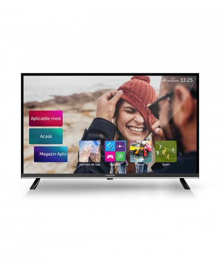 "Allview 40ATS5100-F 40"" (101 cm), Smart TV, Full HD, 1920x1080 pixels, Wi-Fi, DVB-T/DVB-T2, DVB-C, Black and silver"