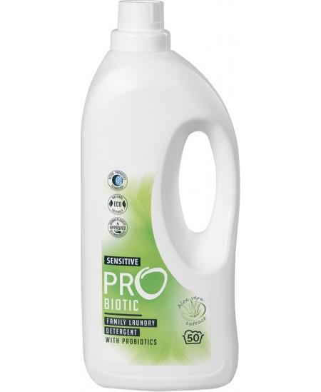 Skalbiklis su probiotikais PROBIOTIC, Sensitive, koncentruotas, su alijošiaus ekstraktu, 50 skalbimų, 1.5 l