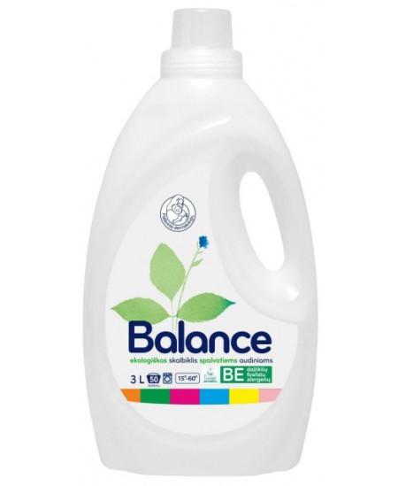 Ekologiškas skalbiklis BALANCE, spalvotiems audiniams, 1.5 l