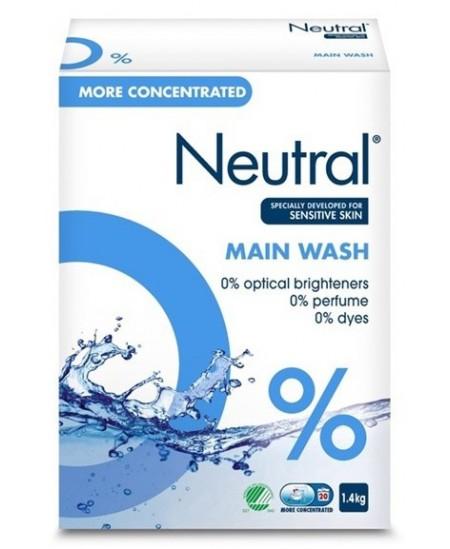 Skalbimo milteliai NEUTRAL Main Wash, 1.4 kg