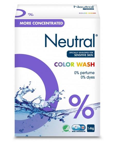 Skalbimo milteliai NEUTRAL Color Wash, 1.4 kg