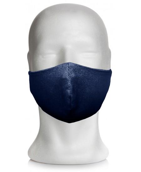 Daugkartinė medžiaginė veido kaukė, mėlyna