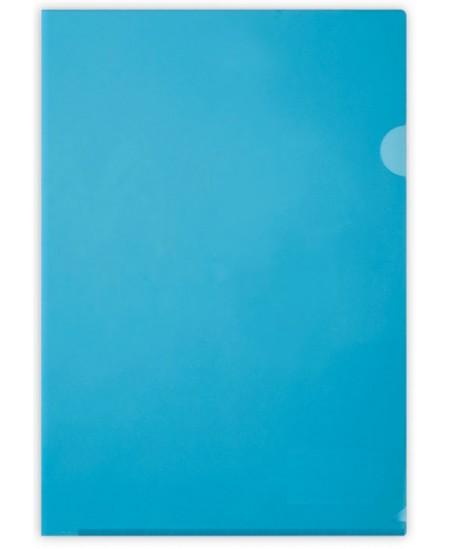 Dėklas L formos, 100 mikr., A4, mėlynas