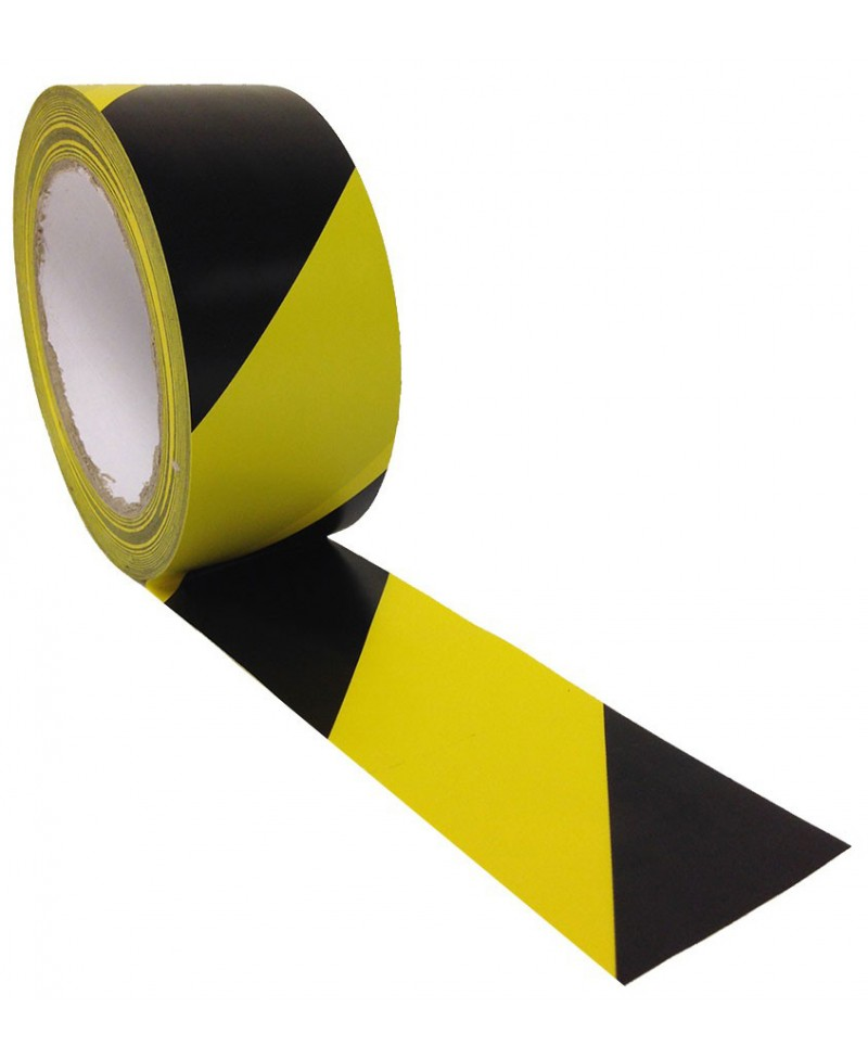 Lipni ženklinimo juosta grindims, 50 mm x 30m, geltona/juoda