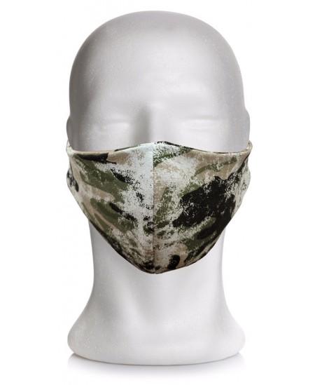 Daugkartinė medžiaginė veido kaukė, chaki
