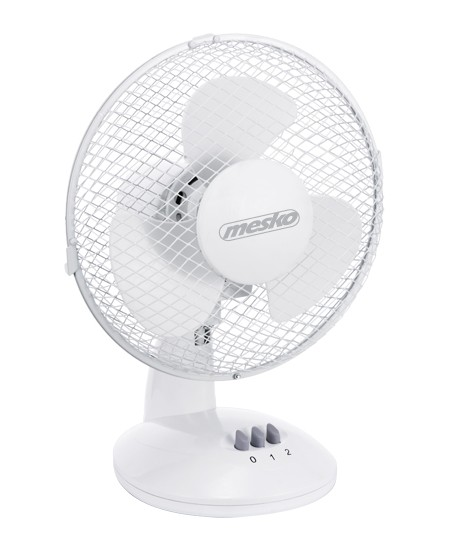 Mesko MS 7308 Desk Fan, Number of speeds 2, 30 W, Oscillation, Diameter 23 cm, White