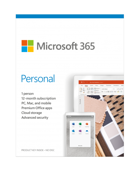 Microsoft 365 Personal QQ2-01003 1 Person, License term 1 year(s), Russian, Medialess, P6