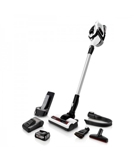 Bosch Vacuum cleaner BBS812PCK Handstick 2in1, 35 min, 0.4 L, White, Li-Ion, Warranty 24 month(s), Battery warranty 24 month(s)