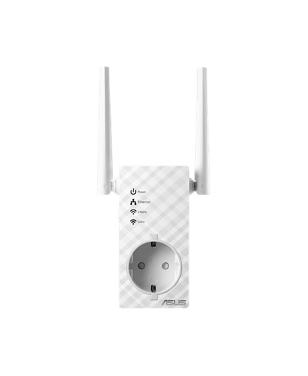 Asus Repeater RP-AC53 802.11ac, 2.4GHz/5GHz, 300+433  Mbit/s, 10/100 Mbit/s, Ethernet LAN (RJ-45) ports 1, Antenna type 2xExtern