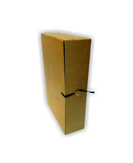 Archyvinė dėžutė su raišteliais SM-LT, 320x235x80 mm, ruda