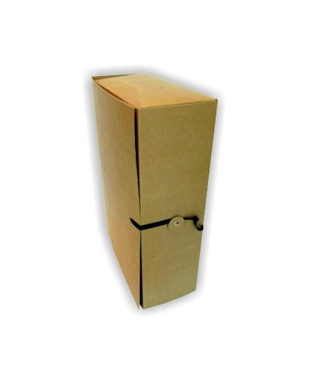 Archyvinė dėžutė su raišteliais SM-LT, 320x235x100 mm, ruda