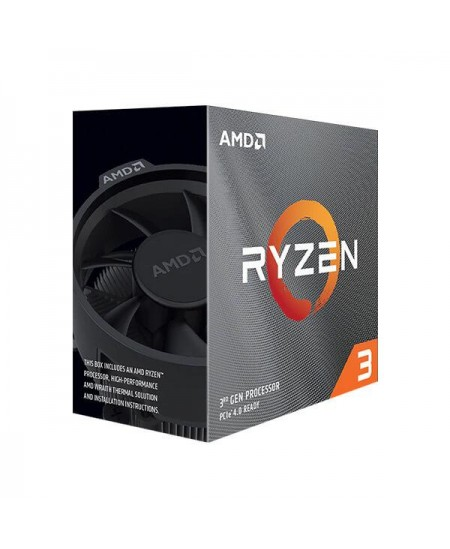 AMD Ryzen 3 3100, 3.6 GHz, AM4, Processor threads 8, Packing Retail, Processor cores 4, Component for PC