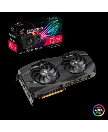 Asus ROG-STRIX-RX5500XT-O8G-GAMING AMD, 8 GB, Radeon RX 5500 XT, GDDR6, PCI Express 4.0, Processor frequency 1845  MHz, HDMI por