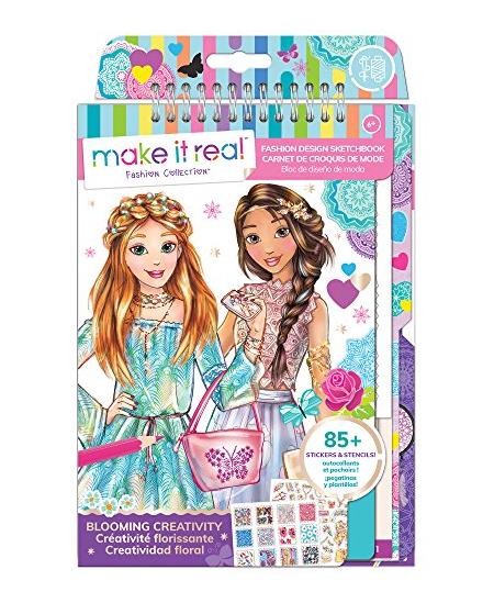 """Dizainerio eskizų rinkinys-knygelė MAKE IT REAL """"Gėlės"""""""