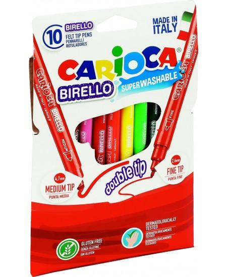 Flomasteriai CARIOCA, dvipusiai, 12 spalvų