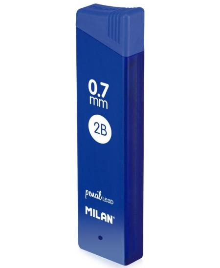 Grafitai automatiniams pieštukams MILAN PENCIL LEAD, 0.7 mm (2B), 12 vnt.
