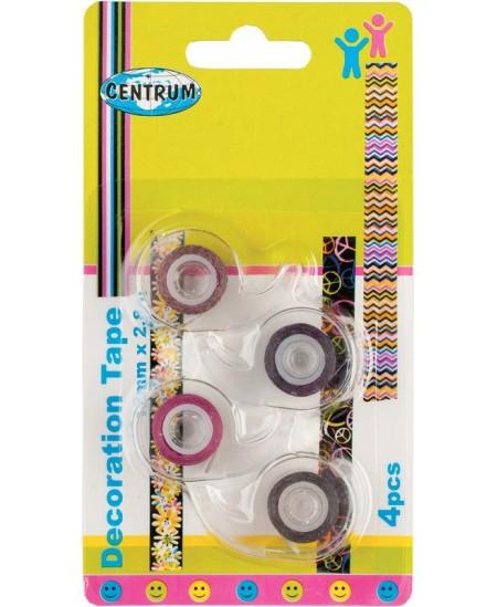 Dekoratyvinė lipni juostelė su laikikliu CENTRUM, 12 mm x 2,8 m. 4 vnt.
