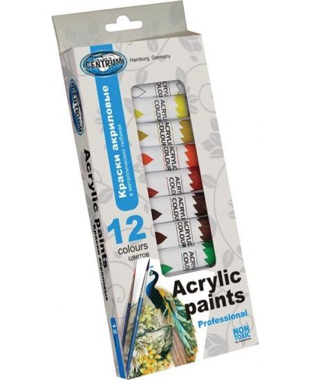 Akrilinių dažų rinkinys CENTRUM 12 sp., 12 ml.
